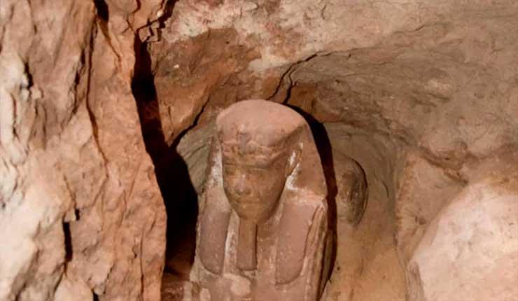 Arqueólogos descubren esfinge antigua en Egipto