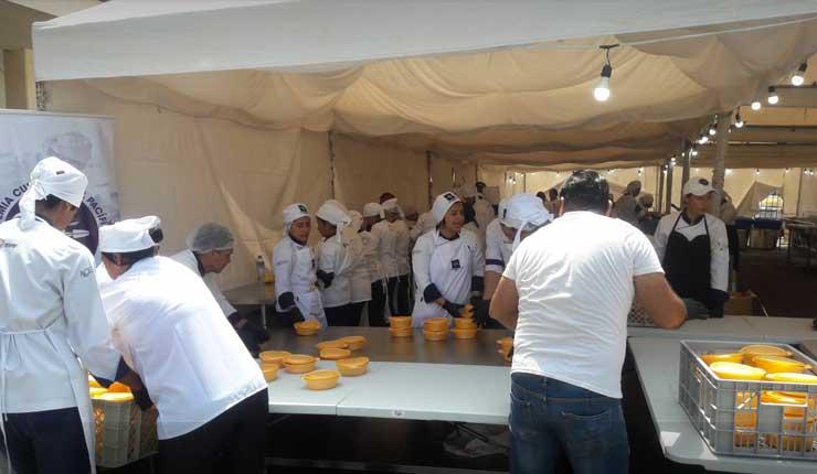En Durán preparan la fritada más grande del país