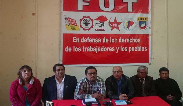 El FUT alista manifestación con demandas para el Gobierno