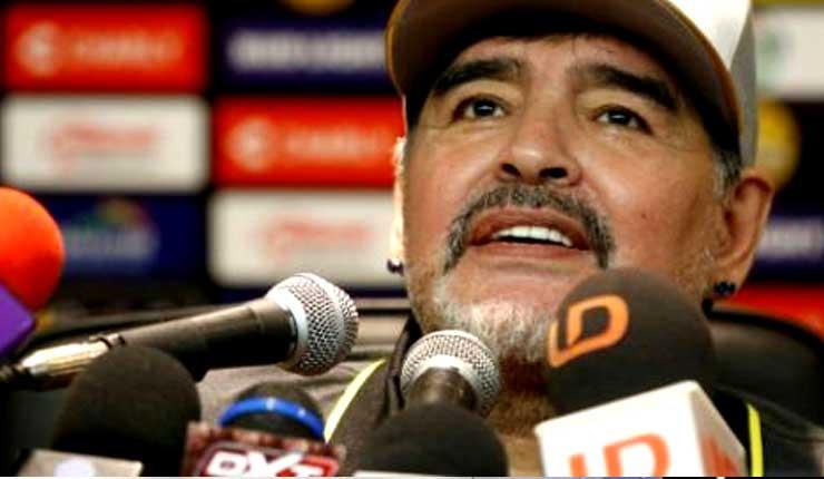 Maradona debuta con goleada como DT Dorados de Sinaloa en México