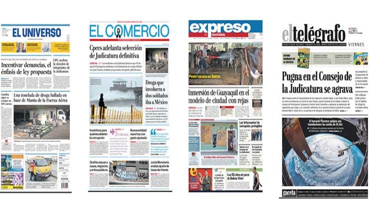 Prensa privada y gubernamental del Ecuador no difundió marcha contra el Gobierno