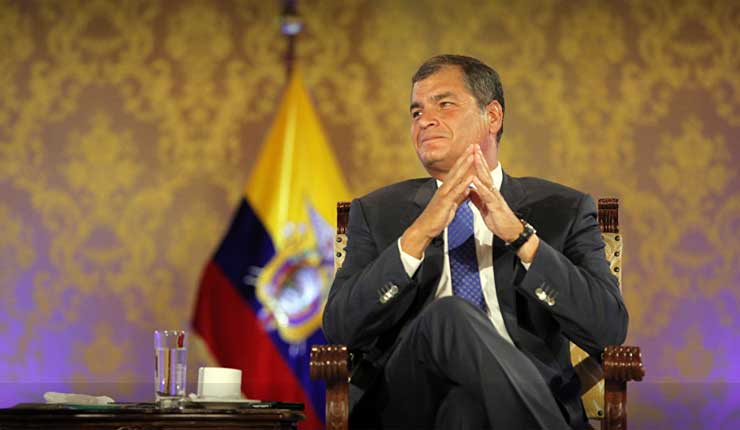 Juicio a Rafael Correa por secuestro de opositor es absurdo