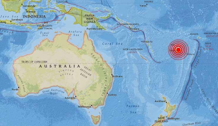 Terremoto, Fiyi, Australia,
