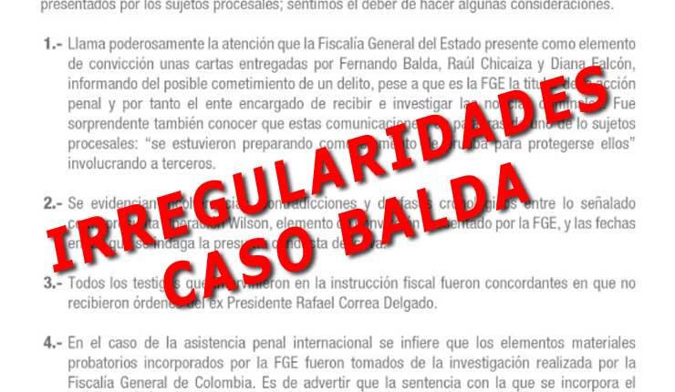 Misión de Observadores Internacionales, revela Irregularidades, tras audiencia en caso Balda