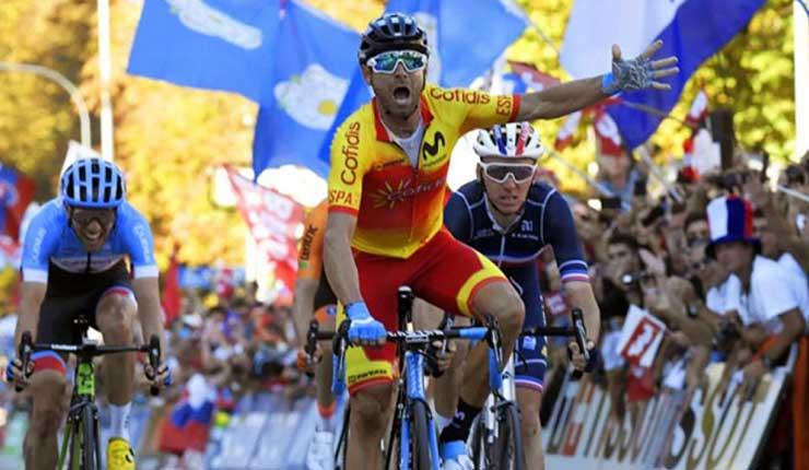 Alejandro Valverde campeón del mundo en el Mundial de Ciclismo en Austria