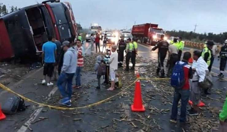 Accidente de transito en Naranjal, deja cuatro personas fallecidas