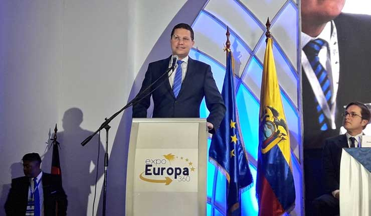 Ecuador busca fortalecer relaciones comerciales en la Expo Europa 360