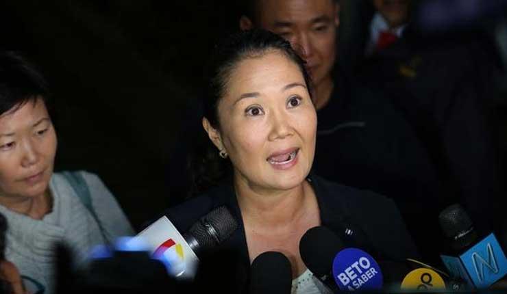 La opositora Keiko Fujimori fue detenida por lavado de activos en Perú
