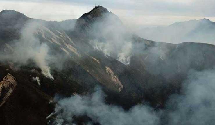 Incendio forestal en el cerro Atacazo al sur de Quito ha consumido 650 hectáreas