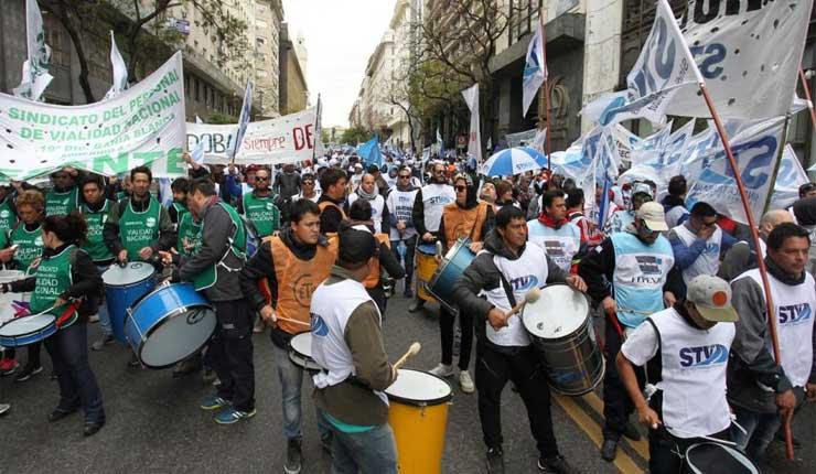 Argentina: Protesta de los trabajadores de Vialidad Nacional