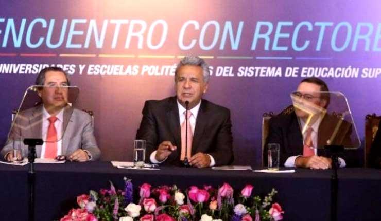Gobierno de Moreno quiere incrementar al 27% la matrícula en tercer nivel de educación superior para 2021