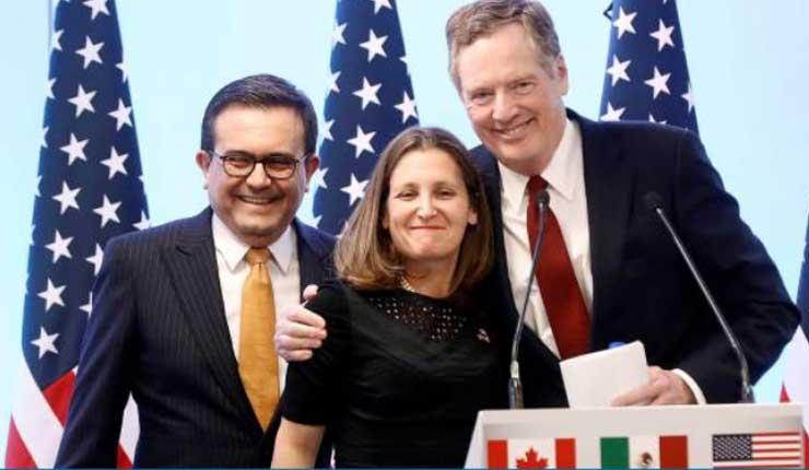 México, EEUU y Canadá pactan nuevo TLC