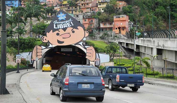 Guayaquil: Túneles, con restricción por medición de gases