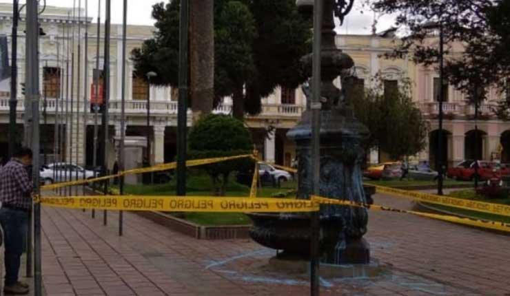 Alcalde de Riobamba denuncia vandalismo contra bienes públicos