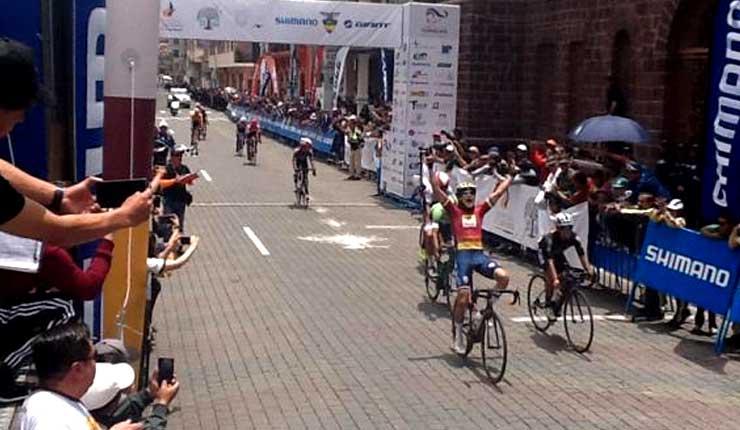 Alonso Gamero es el ganador de la Vuelta Ciclística a Ecuador tercera etapa
