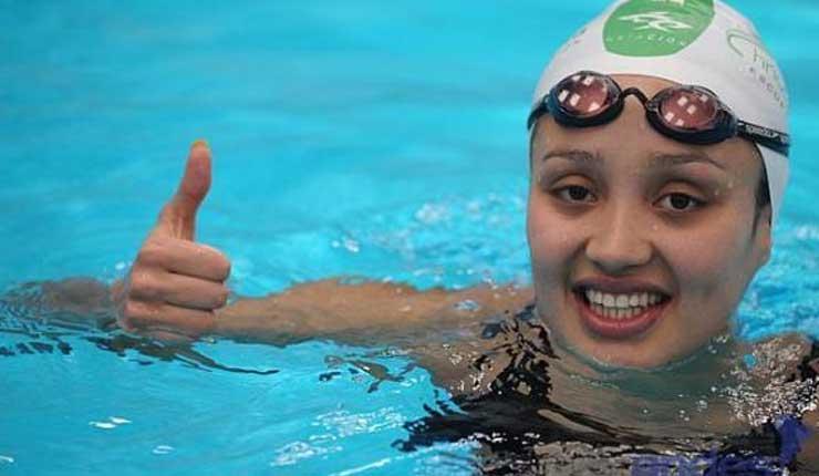 Nadadora ecuatoriana Samantha Arévalo cumple su segundo año de preparación en Roma