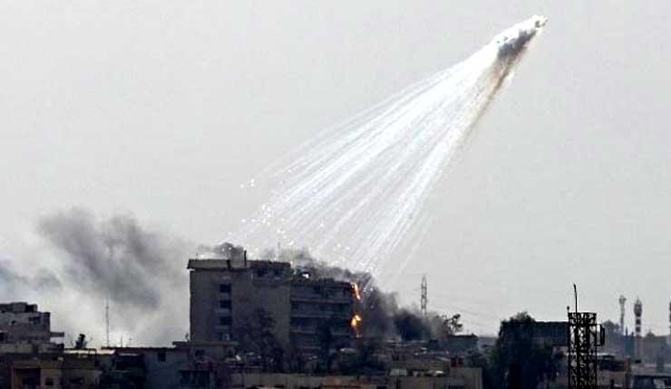 La coalición liderada por EE.UU usó fósforo blanco durante su reciente bombardeo en Siria