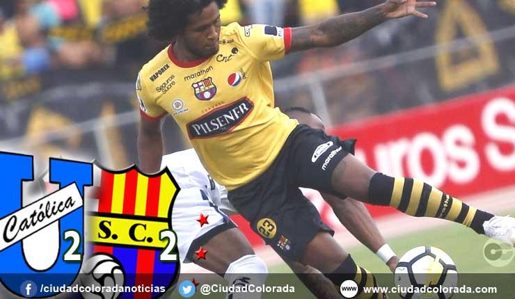 U. Catolica 2 - 2 Barcelona