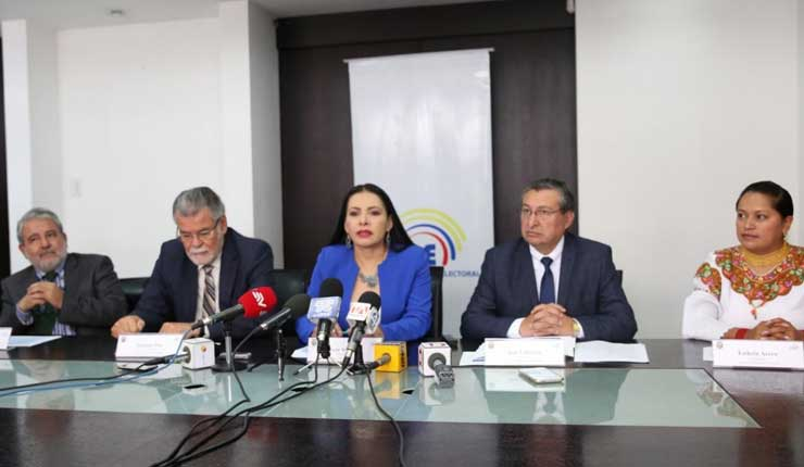 CNE convoca a elecciones seccionales el 24 de marzo de 2019