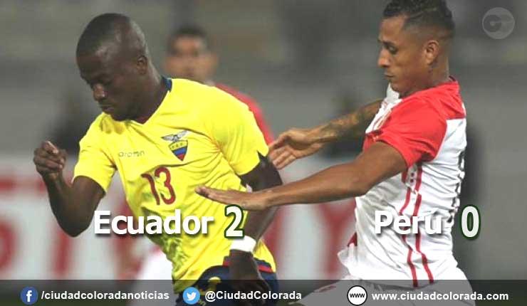 Ecuador con buen fútbol gana 2 x 0 a Perú