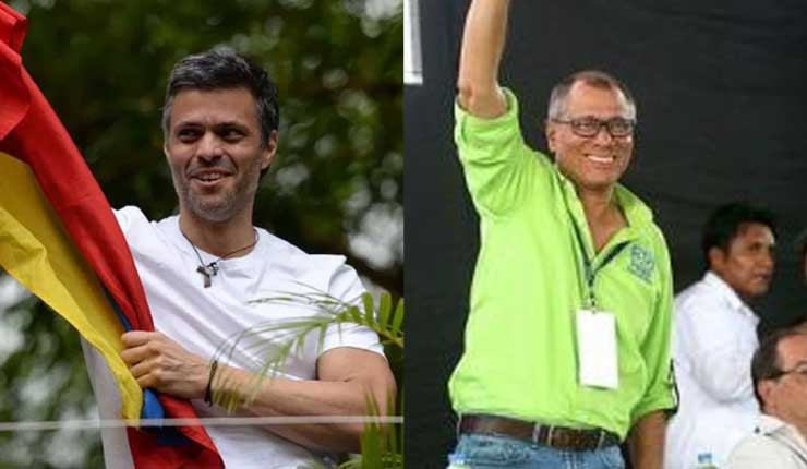 El trato de la prensa a Leopoldo López y a Jorge Glas