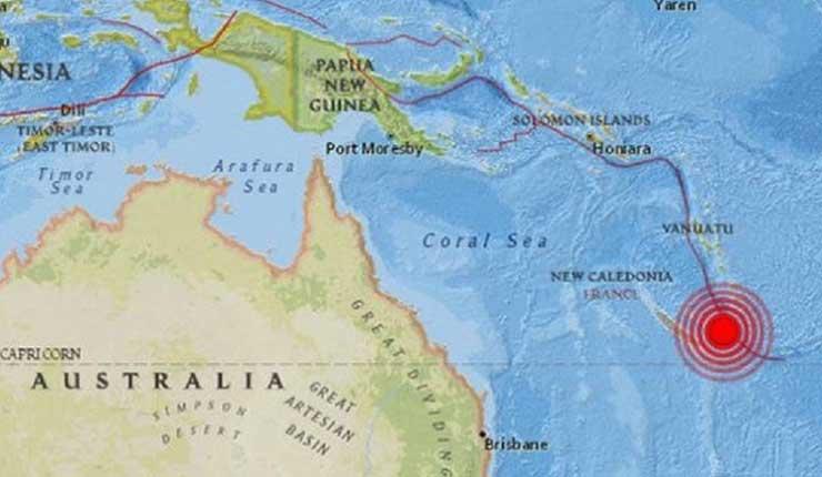 Alterta de Tsunami, archipiélago francés de Nueva Caledonia