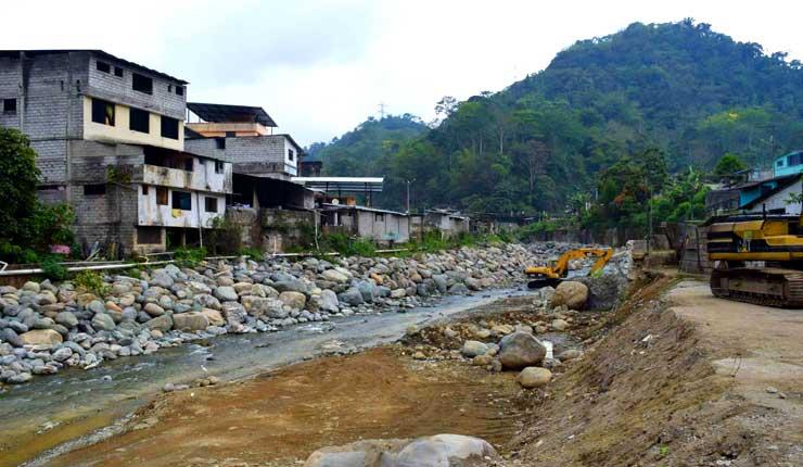La construcción de muro en Alluriquín no estará lista para este invierno
