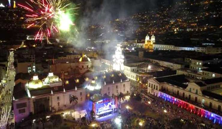 Quito celebra sus fiestas en sus 484 años de fundación