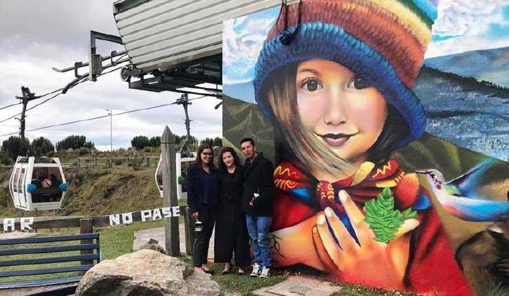 Murales artísticos son parte ya del teleférico de Quito