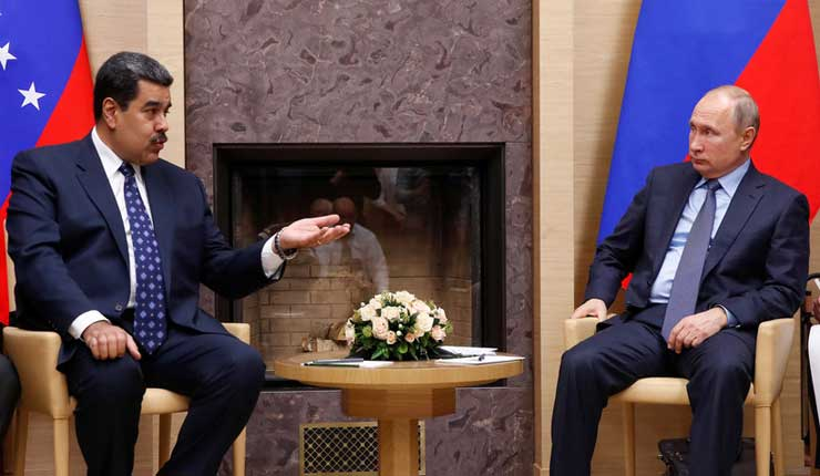 Rusia respalda a gobierno de Maduro y condena cualquier intento de cambiar la situación en Venezuela por la fuerza