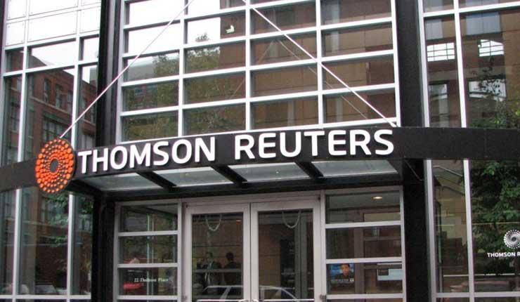 Grupo mediático Thomson Reuters suprimirá 3.200 puestos de trabajo en dos años
