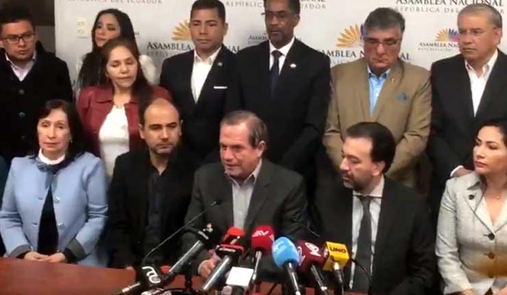 Asambleístas miembros de Revolución Ciudadana piden a Jorge Glas declinar huelga de hambre