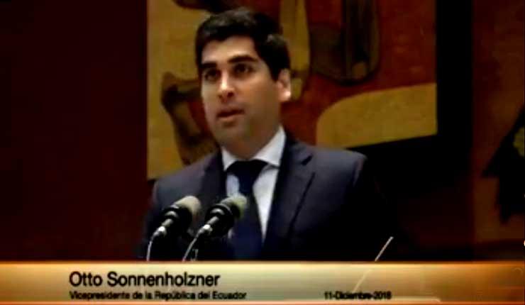 Asamblea Nacional designa a Otto Sonnenholzner como nuevo vicepresidente de Ecuador