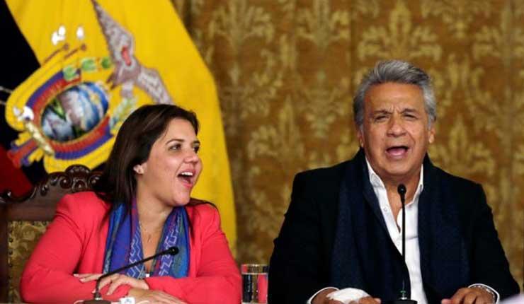 Presidente Lenin Moreno retira funciones a Vicepresidenta Vicuña