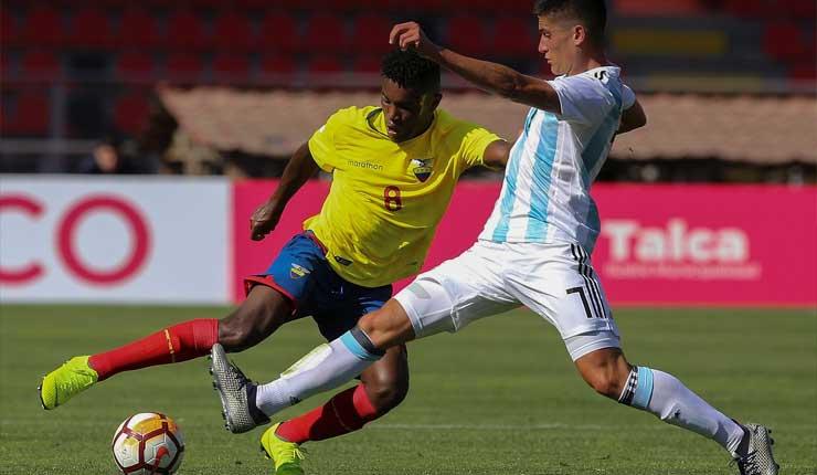 Ecuador derrotó 1-0 a Argentina y encabeza el Grupo B del Sudamerivano Sub 20