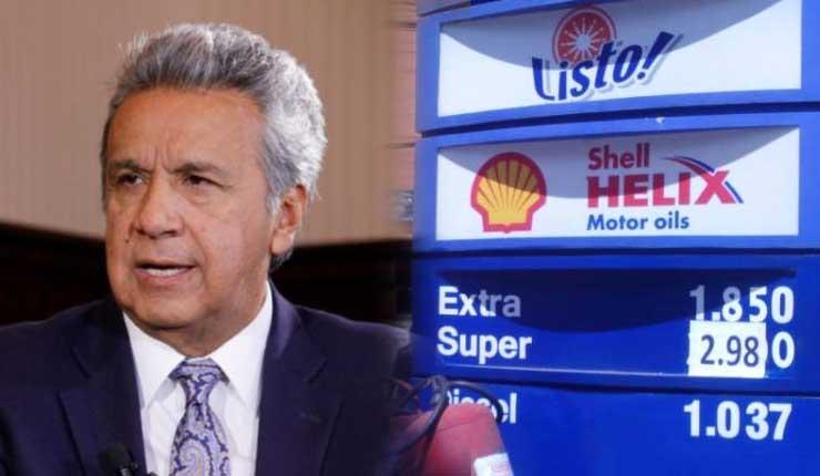 Mediante decreto Moreno confirma que el diésel no subirá