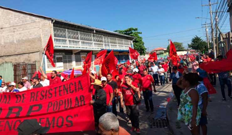 Protestas en varias ciudades de Honduras
