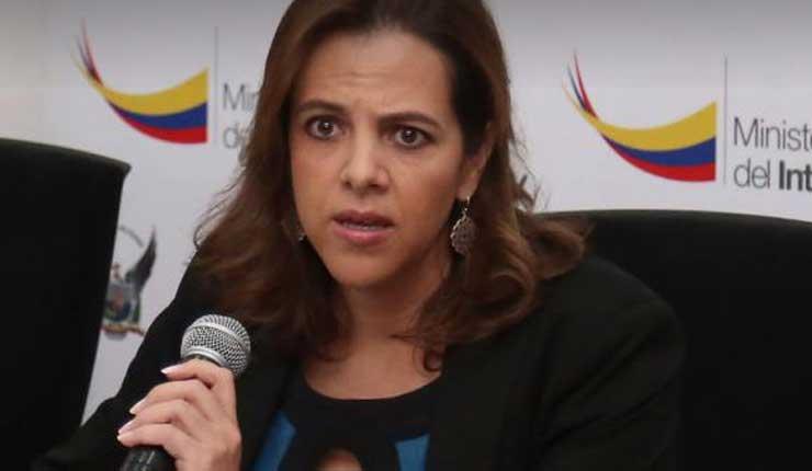 La culpa fue de los policías, dijo la Ministra Romo por lo sucedido en Ibarra