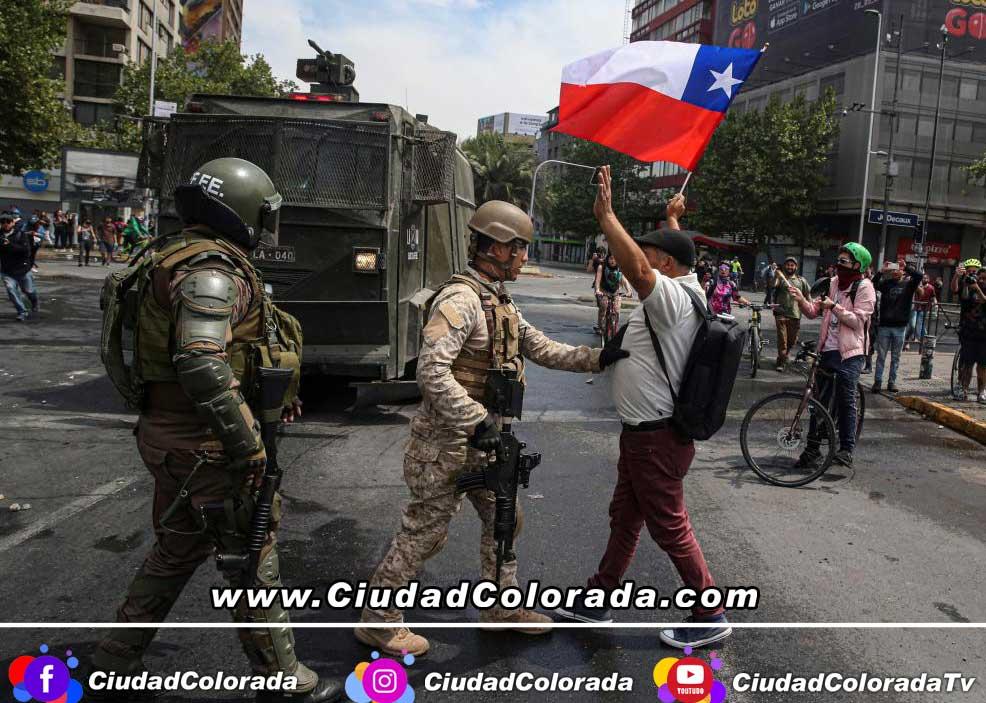 Protestas Chile - CiudadColorada.com