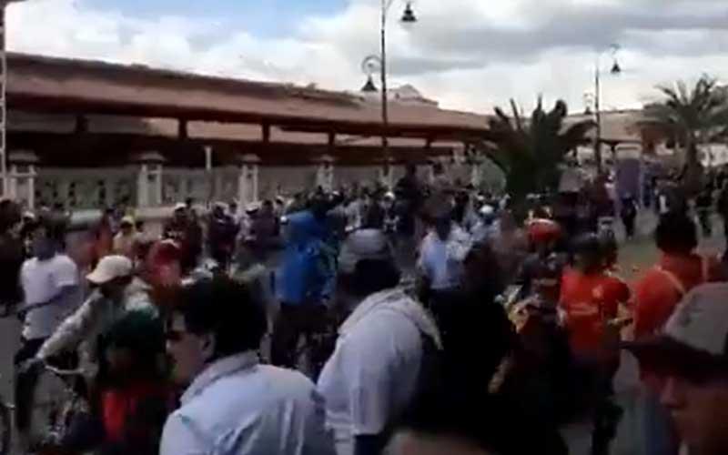 Paro Nacional, Ecuador, Riobamba,