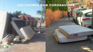 Las calles de Madrid se llenan de colchones